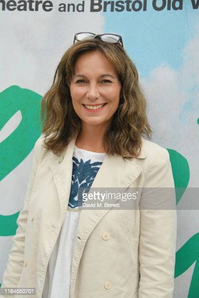 """Fiona Dolman attends the press performance of """"Peter Pan"""" at the Troubadour White City Theatre on July 27, 2019 in London, England."""