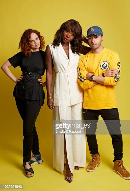 Fiona Dourif Amanda Warren and Gabriel Chavarria from Syfy's 'The Purge' pose for a portrait in the Getty Images Portrait Studio powered by Pizza Hut...