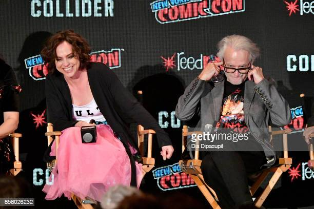 Fiona Dourif and Brad Dourif speak onstage at Child's Play / Cult Of Chucky Panel during 2017 New York Comic Con Day 1 on October 5 2017 in New York...
