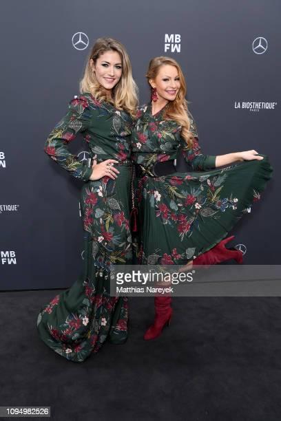 Fiona Erdmann and Jana Julie Kilka attend the Lena Hoschek show during the Berlin Fashion Week Autumn/Winter 2019 at ewerk on January 16 2019 in...