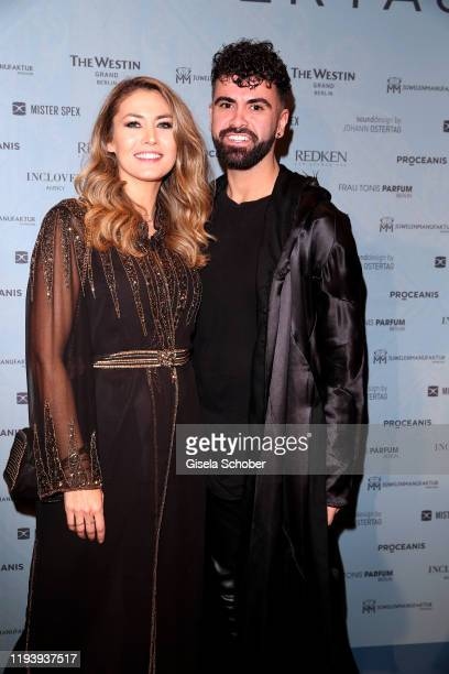Fiona Erdmann and Micha during the Marcel Ostertag Runway Show AW20 Memory as part of the Berlin Fashion Week Autumn/Winter 2020 at Westin Grand...
