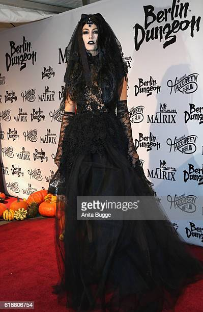 Fiona Erdmann attends the Halloween party by Natascha Ochsenknecht at Berlin Dungeon on October 27 2016 in Berlin Germany
