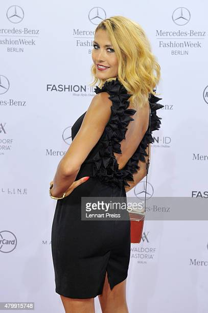 Fiona Erdmann attends the Irene Luft show during the MercedesBenz Fashion Week Berlin Spring/Summer 2016 at Brandenburg Gate on July 8 2015 in Berlin...