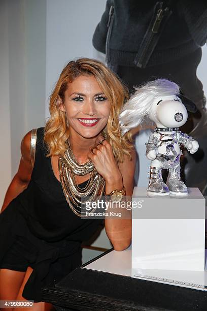 Fiona Erdmann attends the Snoopy Belle In Fashion during the MercedesBenz Fashion Week Berlin Spring/Summer 2016 at Ermelerhaus on July 08 2015 in...