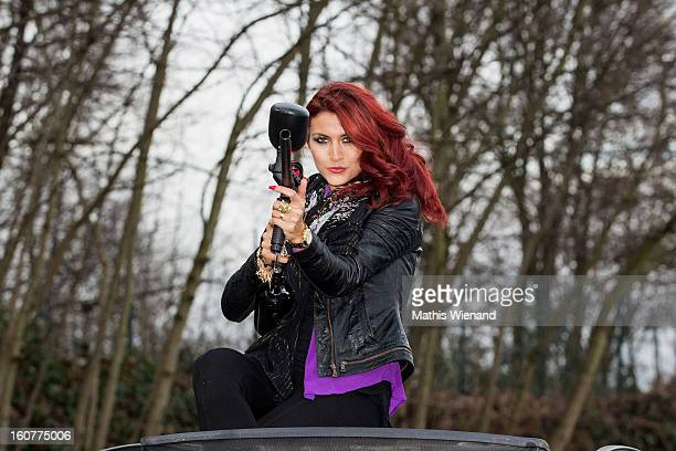Fiona Erdmann attends the 'Turbo And Tacho'Challenge at Action Concept Cologne on February 5 2013 in Huerth Germany