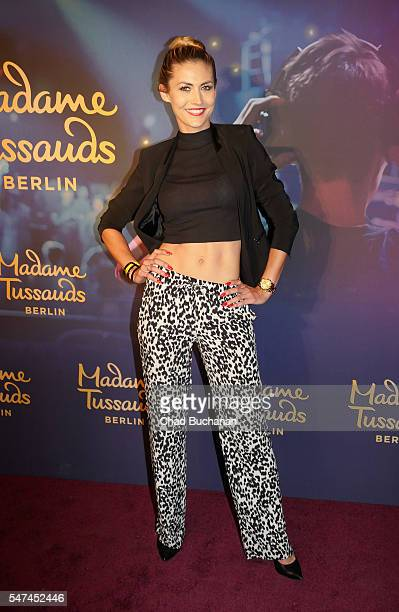 Fiona Erdmann attends the unveiling of the Calvin Harris wax figure at Madame Tussauds on July 14 2016 in Berlin Germany