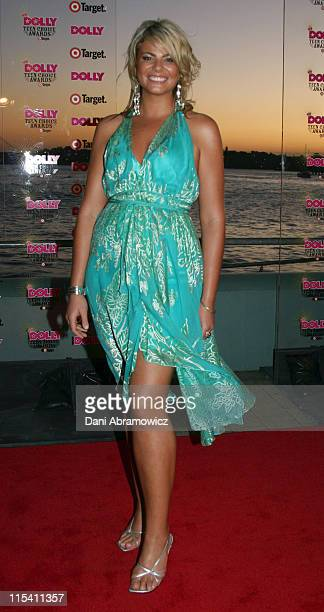 Fiona Falkiner during Dolly Teen Choice Awards at LUNA PARK Big Top in Sydney NSW Australia