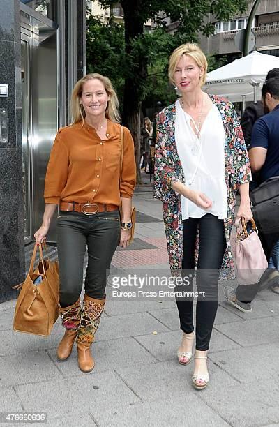 Fiona Ferrer and Anne Igartiburu attend the babyshower party of Gemma RuizCuadrado on June 10 2015 in Madrid Spain