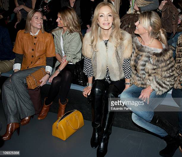 Fiona Ferrer and Carmen Lomana attend the Andres Sarda fashion show during the Cibeles Madrid Fashion Week A/W 2011 at Ifema on February 21 2011 in...