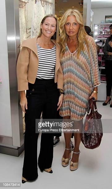Fiona Ferrer and Cristina Tarrega attend EPK Shop Opening in Madridon October 14 2010 in Madrid Spain