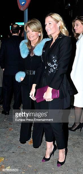Fiona Ferrer and Cristina Yanes attend the tribute to designer Carolina Herrera at USA Embassy on November 14 2016 in Madrid Spain