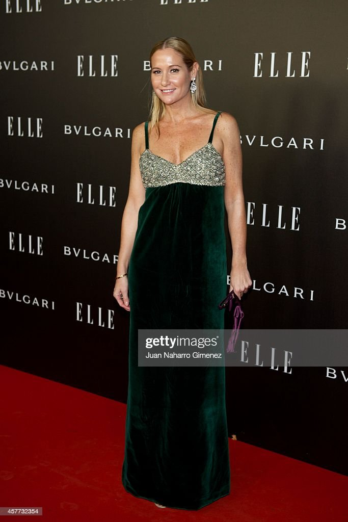 Fiona Ferrer attends 'Elle Style Awards 2014' photocall at Italian Embassy on October 23, 2014 in Madrid, Spain.