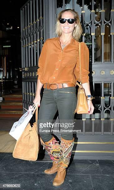 Fiona Ferrer attends the babyshower party of Gemma RuizCuadrado on June 10 2015 in Madrid Spain
