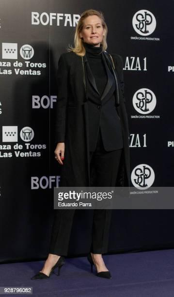 Fiona Ferrer attends the 'San Isidro 2018' Bullfights Fair presentation at Las Ventas bullring on March 7 2018 in Madrid Spain at Las Ventas Bullring...