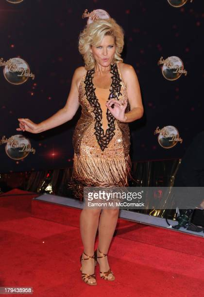 Fiona Fullerton attends the red carpet launch for Strictly Come Dancing at Elstree Studios on September 3 2013 in Borehamwood England