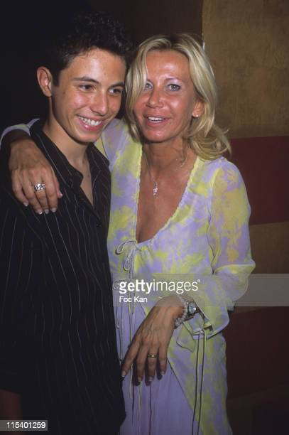 Fiona Gelin and Her Son Milan during Fiona Gelin's Birthday Party June 22 2005 at Castel Club in Paris France