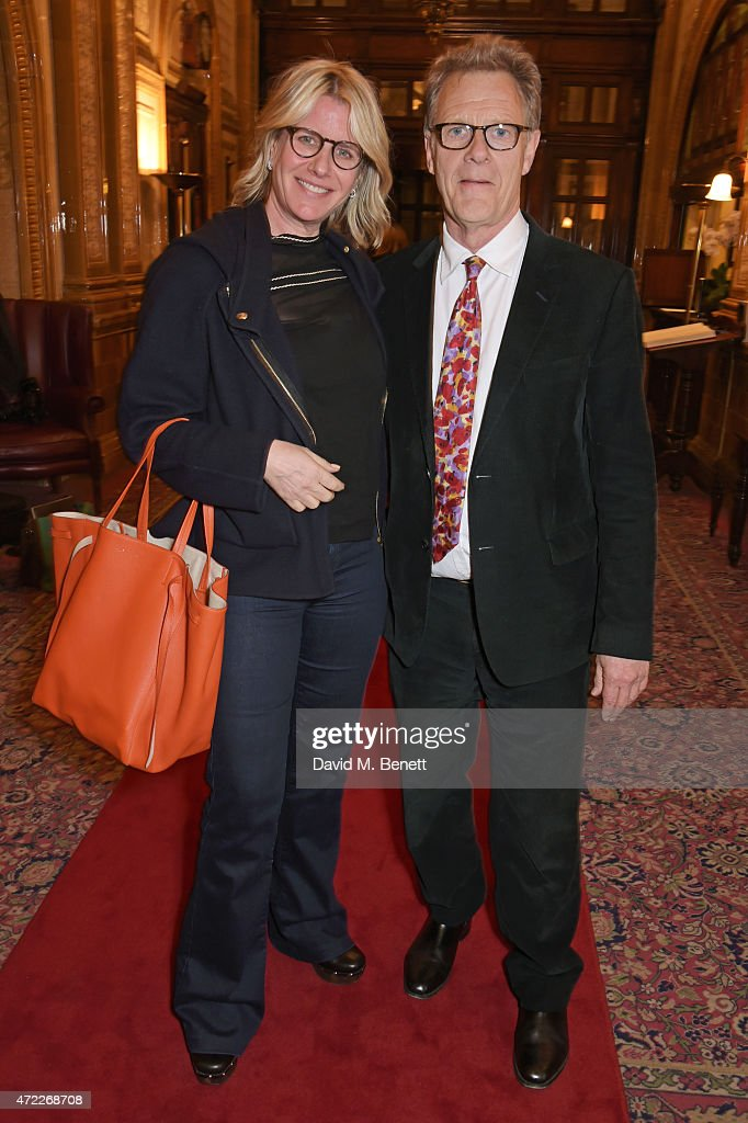 Fiona Golfar (L) and producer Robert Fox attend an after party following the press night performance of 'The Audience' at The Royal Horseguards Hotel on May 5, 2015 in London, England.