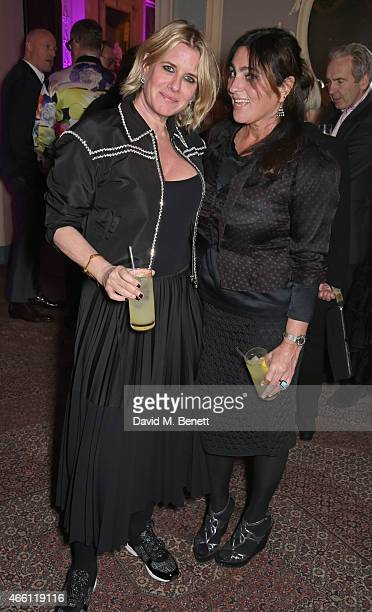 Fiona Golfar and Solange AzaguryPartridge attends a party hosted by Vogue Editor Alexandra Shulman in honor of Lucinda Chambers at Home House Private...