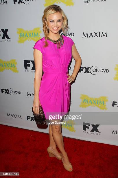 Fiona Gubelmann arrives at the ComicCon International 2012 FX Maxim And Fox Home Entertainment Red Carpet Event at Andaz on July 13 2012 in San Diego...