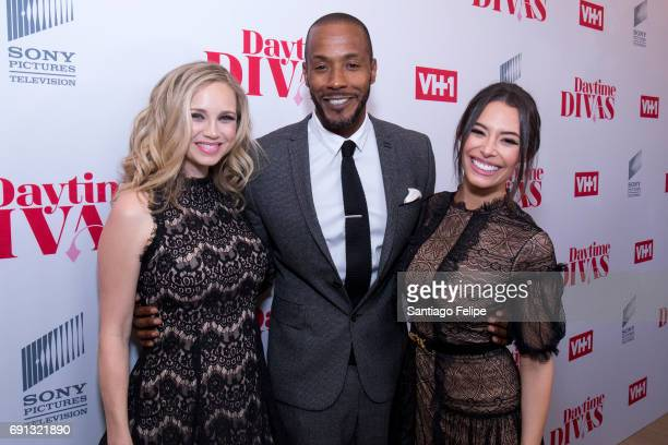 Fiona Gubelmann McKinley Freeman and Chloe Bridges attend VH1 Daytime Divas Premiere Event at the Whitby Hotel on June 1 2017 in New York City