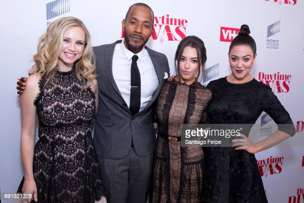 Fiona Gubelmann McKinley Freeman Chloe Bridges and Camille Guaty attend VH1 Daytime Divas Premiere Event at the Whitby Hotel on June 1 2017 in New...