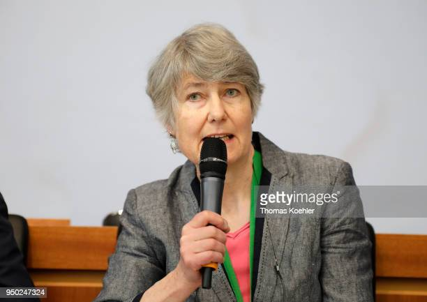Fiona Hall Senior Policy Advisor Consultant to the Group speaks during the 'Berlin Energy Transition Dialogue' on April 18 2018 in Berlin Germany