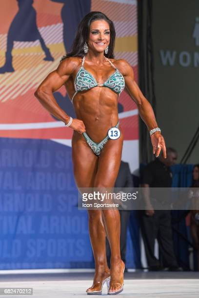 Fiona Harris competes in Fitness International as part of the Arnold Sports Festival on March 3 at the Greater Columbus Convention Center in Columbus...