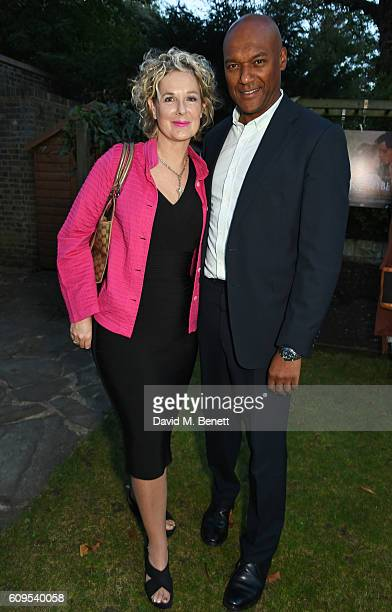 Fiona Hawthorne and Colin Salmon attend a drinks reception ahead of the UK Premiere of 'Dare To Be Wild' on September 21 2016 in London England