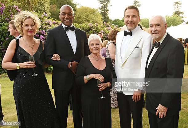 Fiona Hawthorne Colin Salmon Dame Judi Dench David Walliams and Michael G Wilson attend the Duke of Edinburgh Award 60th Anniversary Diamonds are...