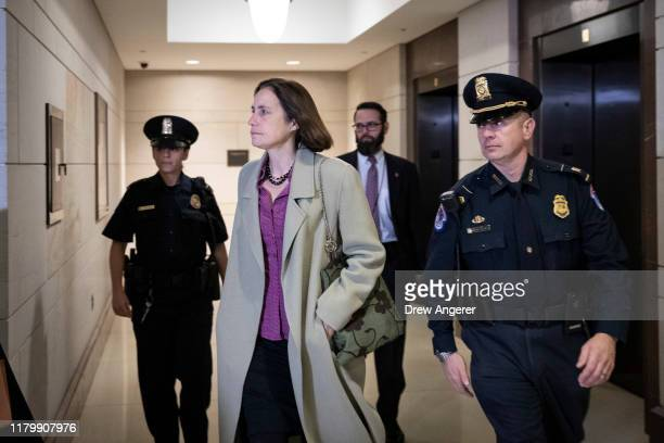 Fiona Hill former deputy assistant to the President and Senior Director for Europe and Russia on the National Security Council staff arrives to...