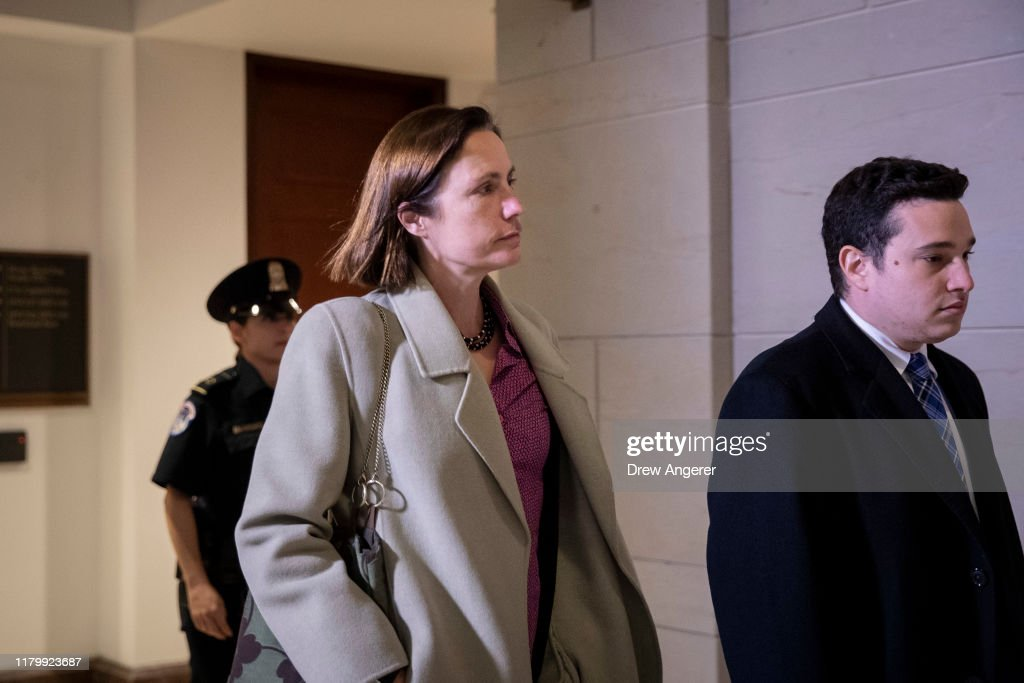 Former Trump Russia Advisor Fiona Hill Returns To Review Deposition Transcript : News Photo