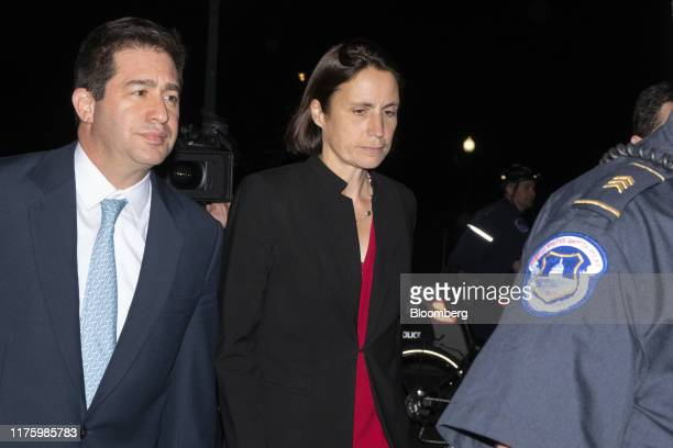 Fiona Hill former National Security Council Russia expert center exits after closeddoor testimony before House committees on Capitol Hill in...