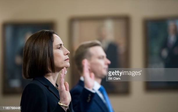 Fiona Hill former senior director for Europe and Russia at the National Security Council and David Holmes political counselor for the US Embassy in...