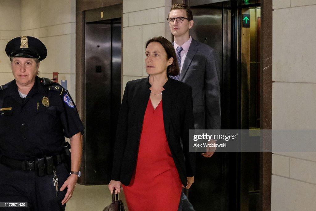 Former Trump Russia Advisor Fiona Hill Testifies Before House On Ukraine Inquiry : News Photo