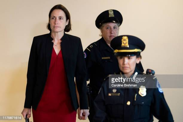 Fiona Hill President Donald Trump's former Russia adviser arrives at the Capitol to testify before Congress as part of the House's impeachment...