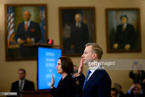 Fiona Hill the former top Russia expert on the National Security Council and David Holmes a State Department official stationed at the US Embassy in...