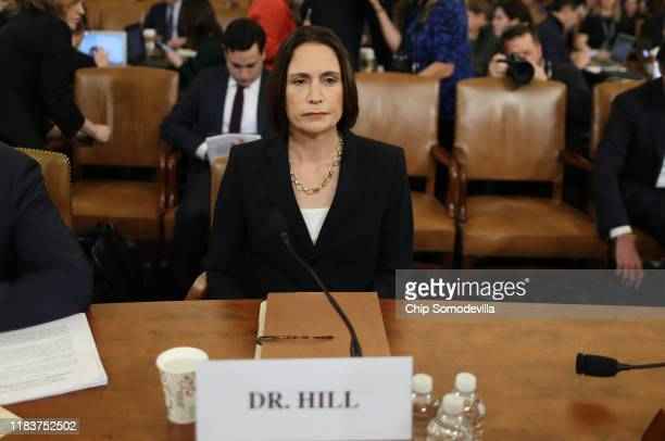 Fiona Hill the National Security Council's former senior director for Europe and Russia and David Holmes arrives to testify before the House...