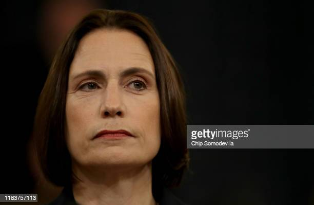 Fiona Hill the National Security Council's former senior director for Europe and Russia and David Holmes prepares to testify before the House...