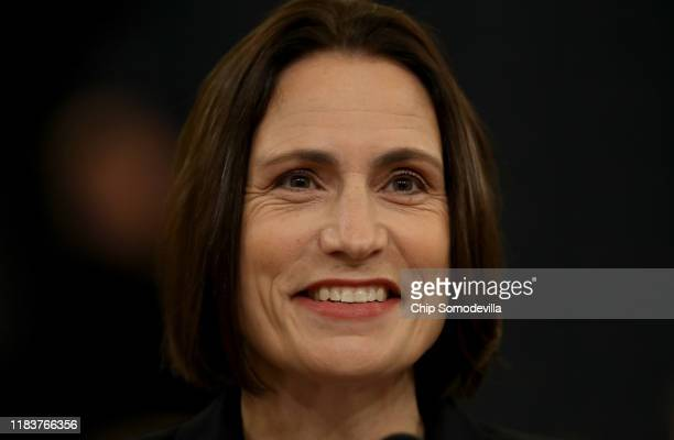 Fiona Hill the National Security Council's former senior director for Europe and Russia and David Holmes testifies before the House Intelligence...