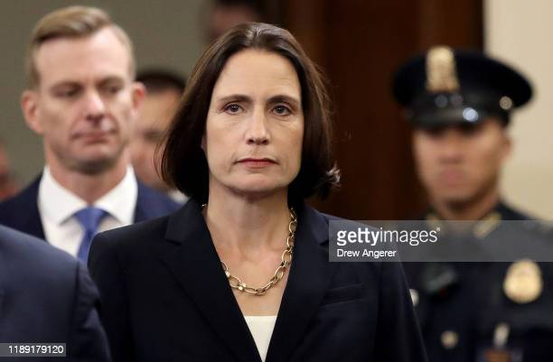 Fiona Hill the National Security Council's former senior director for Europe and Russia and David Holmes the under secretary of state for political...