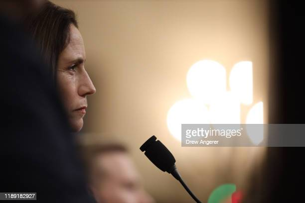 Fiona Hill the National Security Council's former senior director for Europe and Russia testifies before the House Intelligence Committee in the...
