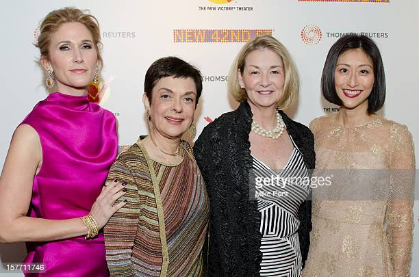 Fiona Howe Rudin, Cora Cahan, Kathy Keele and Adelina Wong Ettelson attend the 2012 New 42nd Street gala at The New Victory Theater on December 5,...