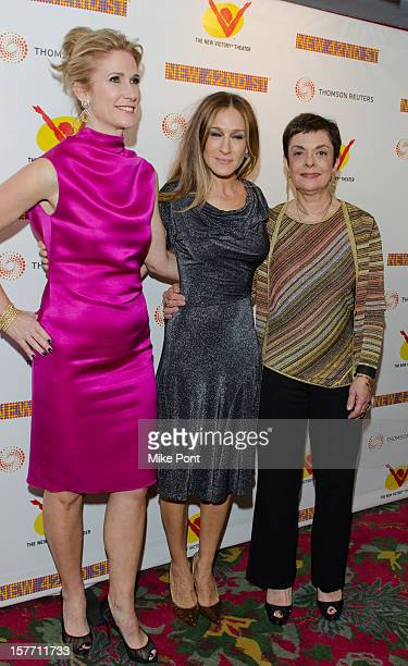 Fiona Howe Rudin Sarah Jessica Parker and Cora Cahan attend the 2012 New 42nd Street gala at The New Victory Theater on December 5 2012 in New York...