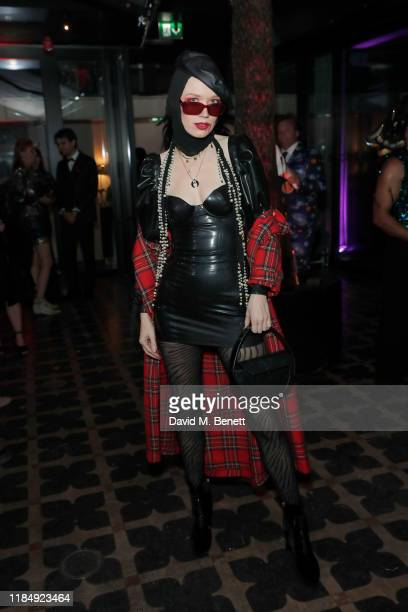 Fiona Jane attends Casamigos Tequila 'Day of the Dead' VIP party at The Mandrake Hotel on November 01 2019 in London England
