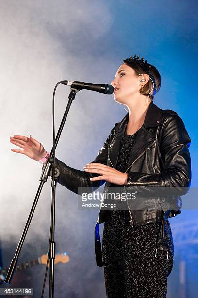 Fiona Jane Burgess of Woman's Hour performs on stage at Kendal Calling Festival at Lowther Deer Park on August 3 2014 in Kendal United Kingdom