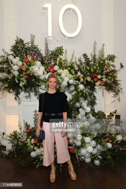 Fiona Joseph attends the Outnet's 10th Anniversary Dinner on April 24 2019 in London England