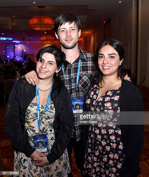 Fiona Lewis and producer Art Linson producer Pablo Greene and executive producer Rebeca Gutierrez Campos attend the Closing Night Reception at the...