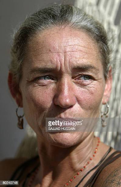 Fiona Mackeownthe mother of British national Scarlet Keeling who was found dead on the Goa's Anjuna beach gestures as she addresses media...