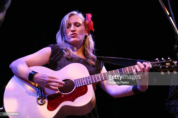Fiona McBain of Ollabelle performs on stage as part of Richard Thompson's Meltdown at The Purcell Room South Bank Centre on June 16 2010 in London...