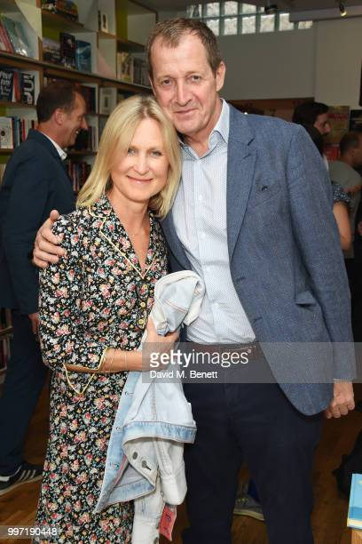 Fiona Millar and Alastair Campbell attend the launch of new book 'Ctrl Alt Delete' by Tom Baldwin at Ink 84 on July 12 2018 in London England